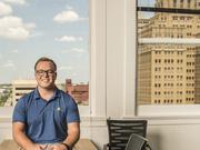 """Bryar Saddoris is the co-founder of Vestra Solar, one of several solar companies working at Geekdom: """"There's a lot of people here in the same boat as us — entrepreneurs trying to make it."""""""