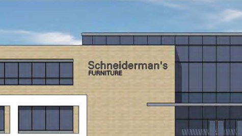 This Rendering Shows The Proposed Schneiderman S Furniture Showroom In Lakeville