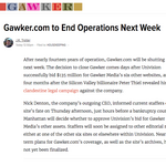 Take one last look: Gawker.com to close next week