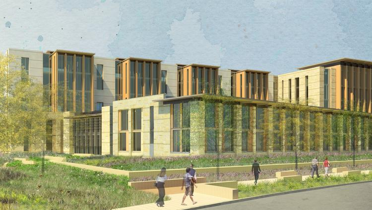 A rendering of $133 million federal courthouse planned for downtown San Antonio.