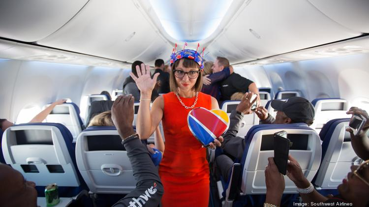 southwest airlines unveils new plane interiors and employee uniforms