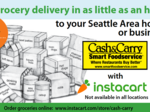 Cash & Carry partners with Amazon competitor Instacart for Seattle-area deliveries