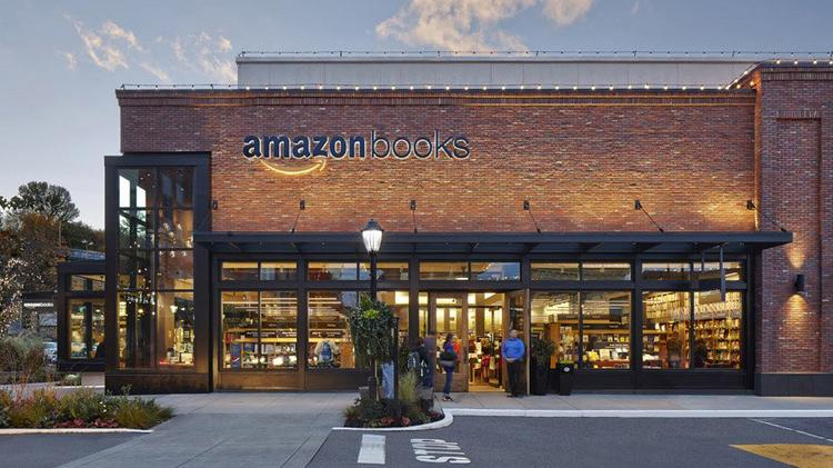 Amazon's bricks-and-mortar retail bookstore in Seattle's University Village shopping center