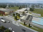 Renderings of the $33.6 million restoration project of Emancipation Park located at 3018 Dowling St.