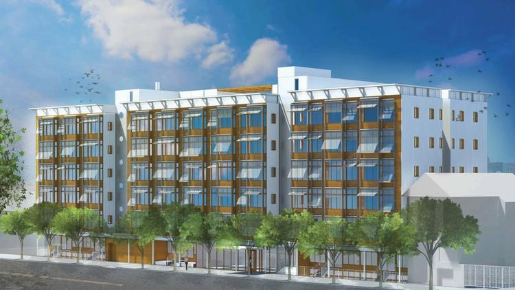 A rendering of Panoramic Interests' 200-unit proposal at 333 12th St., one of two San Francisco housing projects to ever seek to use the state's density bonus program.