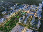 The conceptual vision of the proposed 20-acre Dallas Midtown project by MIG.
