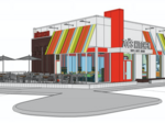 Fast-casual restaurant chain's newest location – a Target parking lot