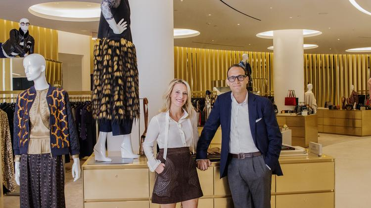 14dfcd8e8cbc Saks Fifth Avenue President Mark Metrick and Saks  chief merchant Tracy  Margolies at the new