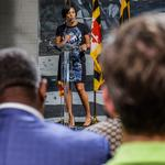 Rawlings-Blake is in 'full support' of Catherine Pugh amid <strong>Dixon</strong>'s re-emergence