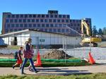 Demolition starts on former Skidmore dorm