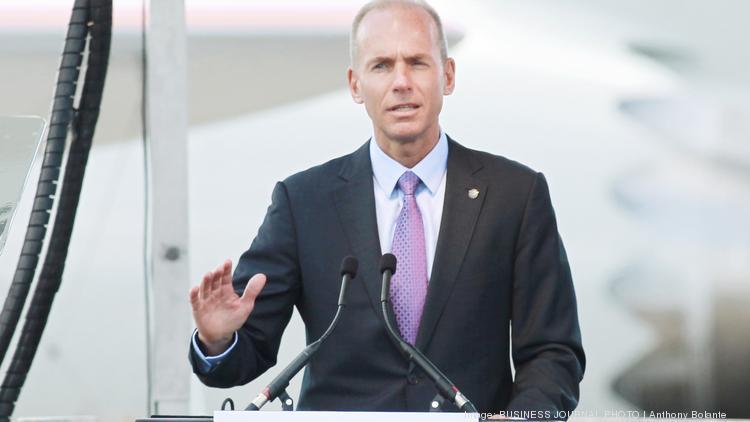 Boeing Co  CEO Dennis Muilenburg's total compensation rose