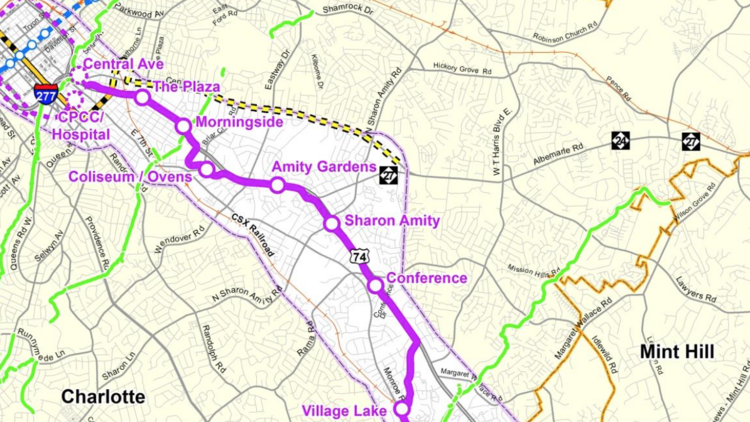 This Is What The Future Light Rail From Uptown Charlotte To Matthews