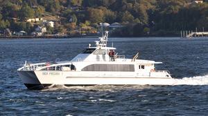 The hydrofoil catamaran Rich Passage 1