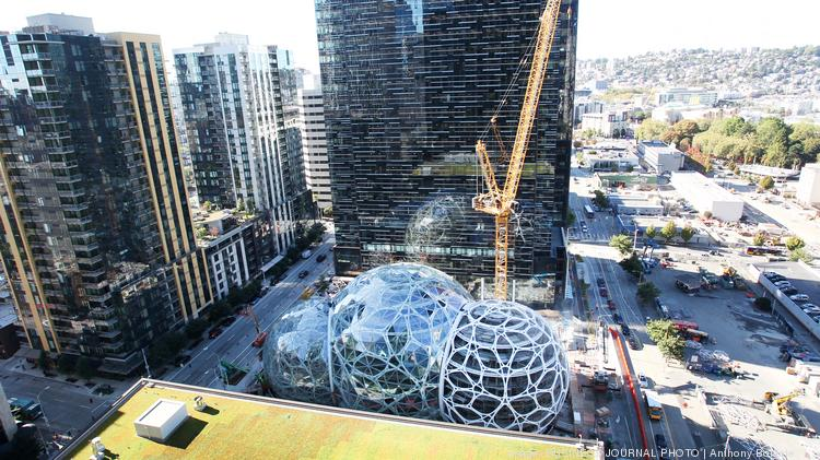 Second Use Seattle >> Amazon opens doors of 36-story 'Day One' tower - Puget Sound Business Journal