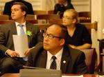 Councilman David Oh stable after stabbing outside his home