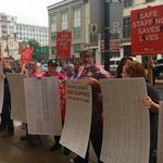 Nurses demonstrate at Hahnemann, call for improved staffing levels