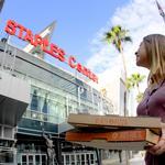 L.A. pizza chain to set Staples Center a-Blaze