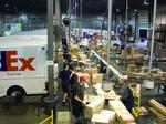 Airport data shows FedEx cargo dip