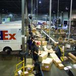 Airport data shows FedEx cargo dip