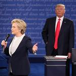 On Facebook and Twitter, Sunday's debate was mostly about Trump