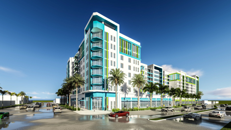 Tentatively Called The Trion Dania Beach This Project Would Have 286 Apartments With 16 000 Square