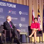 Things turn feisty as Bowser, Hogan and McAuliffe share a stage