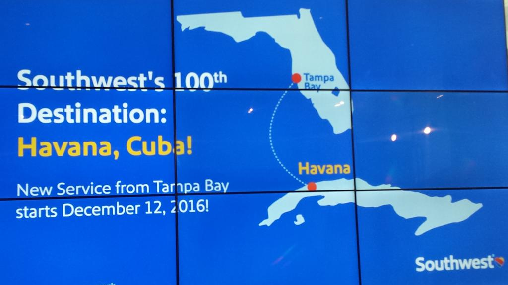 Start Date For Southwest Tampa To Havana Flights Tampa Bay Business Journal