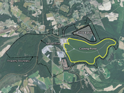 The 120-acre cooling pond at the H.F. Lee Plant lies across the Neuse River from the plant's active ash basin.