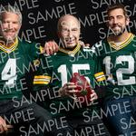 Green Bay Packers selling framed photo of <strong>Starr</strong>, Favre and Rodgers, together