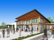 A rendering of a pavilion planned at the Lake Vista park, which is currently under construction.
