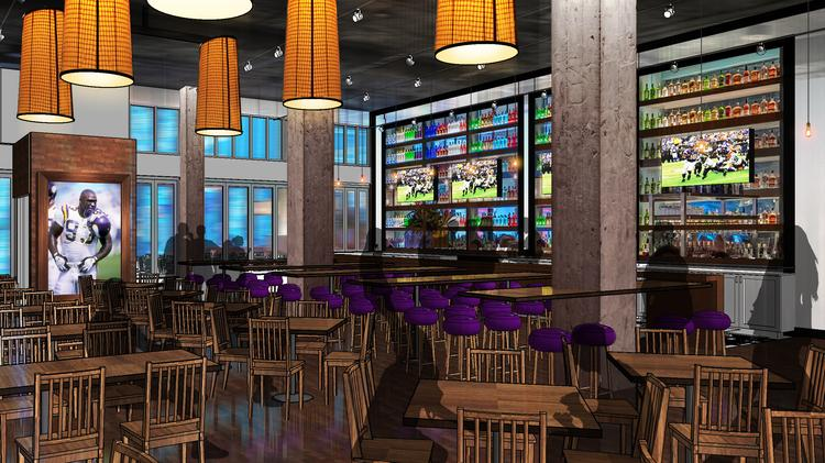 A First Floor Rendering Of Randle S An Upscale Sports Bar Where You Can See