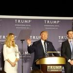 Trump takes break from campaign trail to open D.C. hotel (Video)