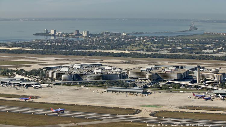 Aerial View Of Tampa International Airport Fl