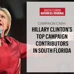 Hillary Clinton's top campaign donors in South Florida