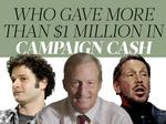 The Bay Area's million-dollar-plus donors to PACs