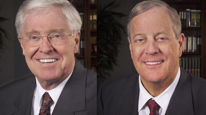 Charles and David Koch rise on Forbes' billionaires list