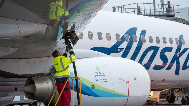 In 2016, Alaska Airlines powered a flight with a 20% blend of biofuel made from forest residuals.