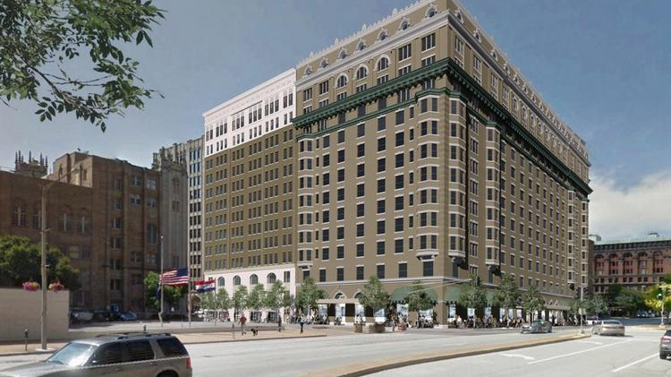 A rendering of the Jefferson Arms building supplied by Alterra Worldwide.