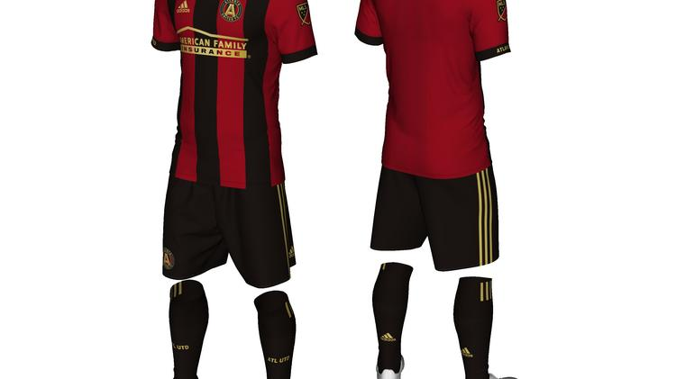 huge discount d15de b55a9 Atlanta United unveils uniform, goes with stripes (SLIDESHOW ...