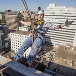 Over the edge: Stepping off the roof of an Austin skyscraper wasn't so bad, after all