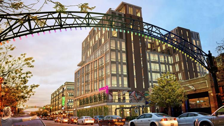 Crawford Hoying Is Proposing A 10 Story Hotel And Office Complex At 800 N