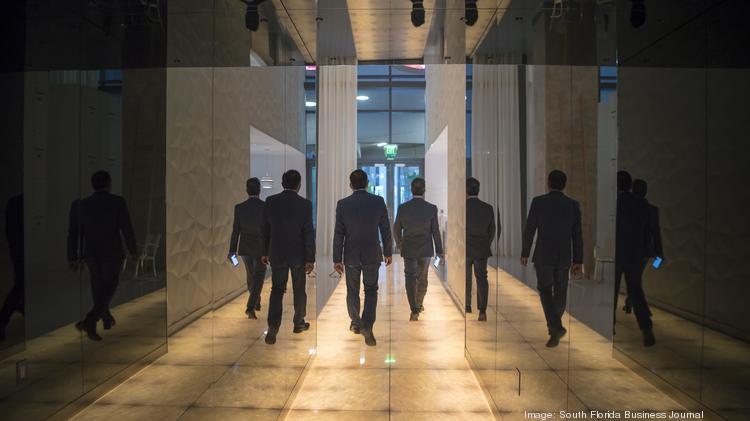 A hallway in SLS Brickell.