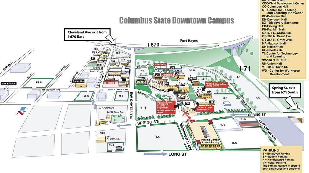 columbus state university campus map Columbus State Community College Buys Downtown Student Parking columbus state university campus map