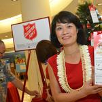Rain forces Hawaii's Salvation Army to kick off Red Kettle season inside bank branch: Slideshow