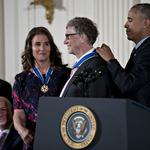 Obama honors Bill and Melinda Gates, EMP Museum designer Frank Gehry, pioneering women in tech (Photos)