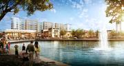 A rendering of what the Woodlands Development Co. is planning for Hughes Landing.