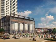Rendering of the microbrewery within the entertainment block being developed near the Bucks' new arena