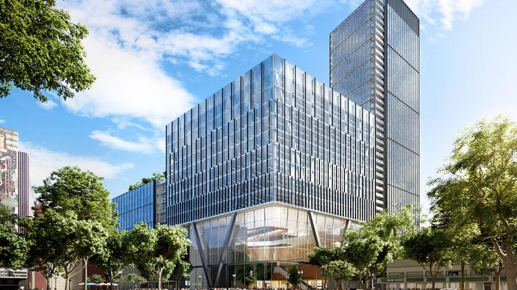Exclusive oakland megaproject could drop housing for 157 million a rendering of lane partners and sudas proposed 13 million square foot eastline project malvernweather Gallery