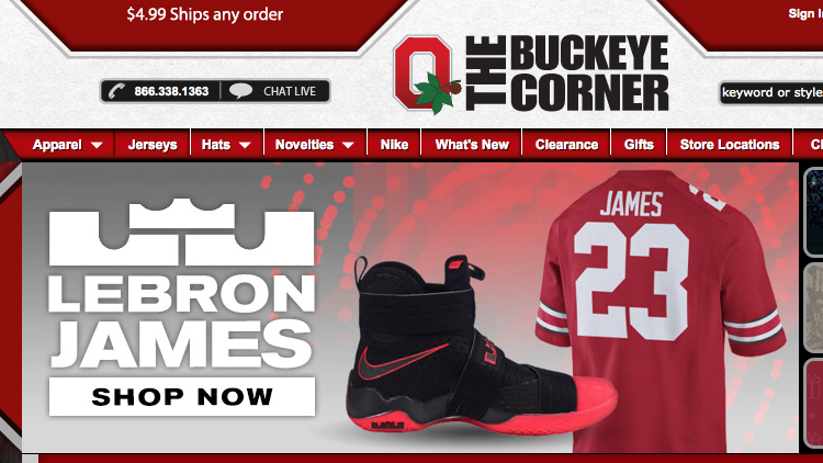 on sale 017d3 6c9af Ohio State hopes LeBron James' Nike No. 23 jersey and ...