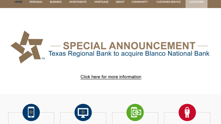 Texas State Bankshares Inc To Acquire Blanco National Holdings Inc